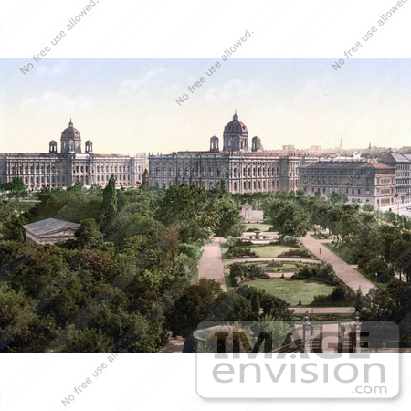 #19472 Stock Photo of the Public Park Gardens in Vienna, Austria, Austro-Hungary by JVPD