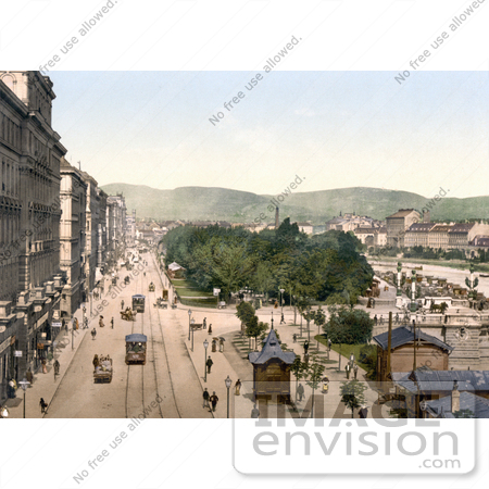 #19480 Photo of Quay Francis Joseph in Vienna, Austria, Austro-Hungary by JVPD