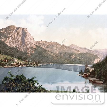 #19511 Photo of the Villages of Aussee and Grundlsee on Lake Grundlsee, Styria, Upper Austria by JVPD