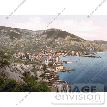 #19631 Photo of the Town of Komiza or Comisa on the Adriatic Sea, Vis, Croatia by JVPD