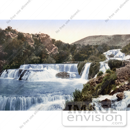 #19656 Photo of the Middle Falls of the Krka River in Sibenik, Sebenico, Croatia by JVPD
