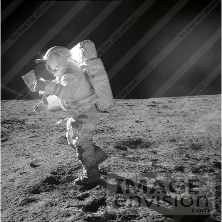 #19947 Stock Picture of Astronaut Edgar Dean Mitchell on the Moon by JVPD