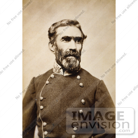 #20123 Stock Photography: Confederate General Braxton Bragg by JVPD