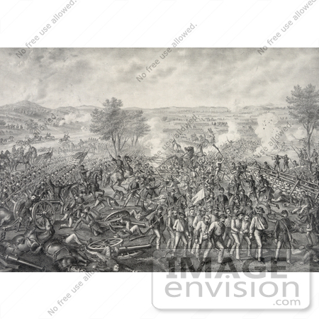 #20143 Stock Photography: the Battle of Gettysburg During the American Civil War, 1863 by JVPD