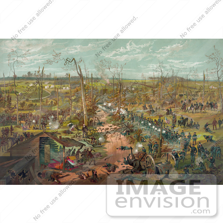 #20147 Stock Photography: the Battle of Shiloh in 1862 by JVPD