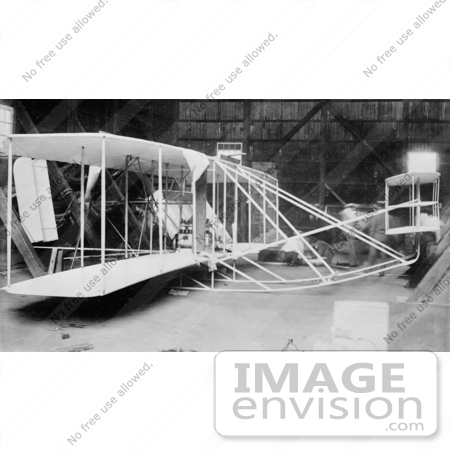 #20187 Stock Photography: the Wright Brothers' Airplane in 1908 by JVPD
