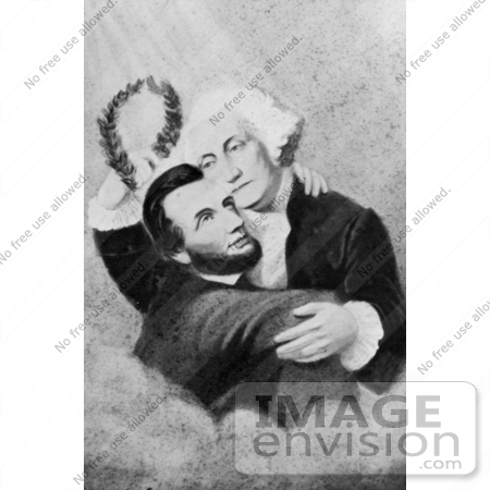Stock Photography Abraham Lincoln Embracing George
