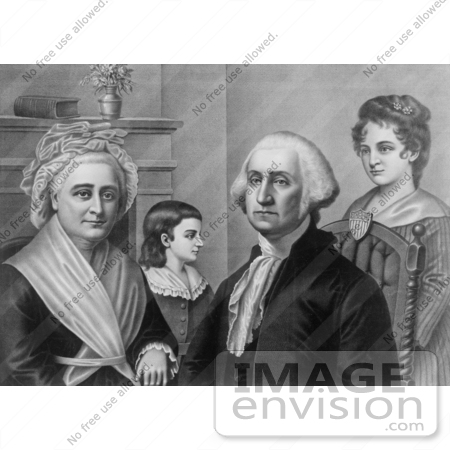 #20216 Stock Photography: George Washington and Family at Mount Vernon by JVPD