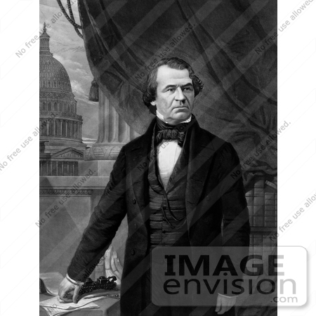 #20265 Historical Stock Photography: the 17th President of the United States, Andrew Johnson by JVPD