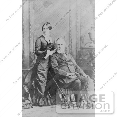 #20311 Historical Photograph of the 19th President Rutherford B Hayes and Lucy Webb Hayes by JVPD