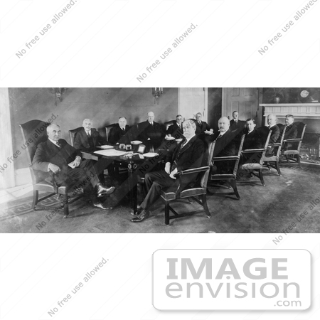 #20357 History Stock Photo of President Warren G Harding and His Cabinet Officers in 1921 by JVPD