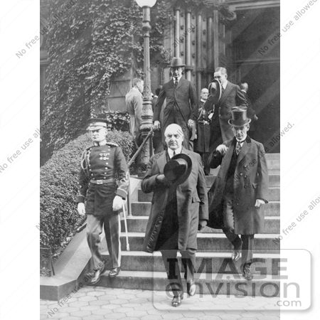 #20361 History Stock Photo of President Warren G Harding and George Christian Leaving the Funeral of J. Antonio Lopez Gutierrez by JVPD