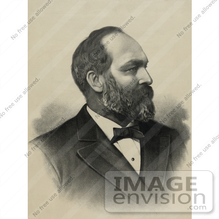 #20375 History Stock Photo of the 20th President of the USA, James Garfield by JVPD