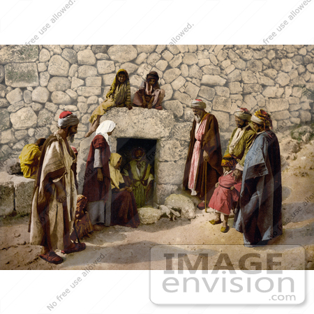 #20407 Historical Stock Photography of the Tomb of Lazarus, Bethany, Holy Land, Jerusalem by JVPD