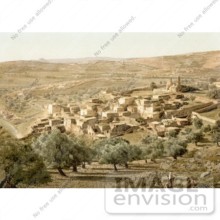 #20457 Historical Stock Photography of the City of Bethany, Holy Land, Jerusalem by JVPD