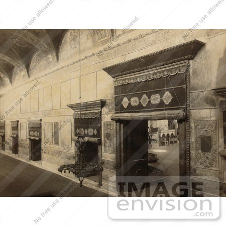 #20493 Historical Stock Photography of the Central Interior Door in Ayasofya Mosque, Hagia Sophia, Istanbul, Turkey by JVPD