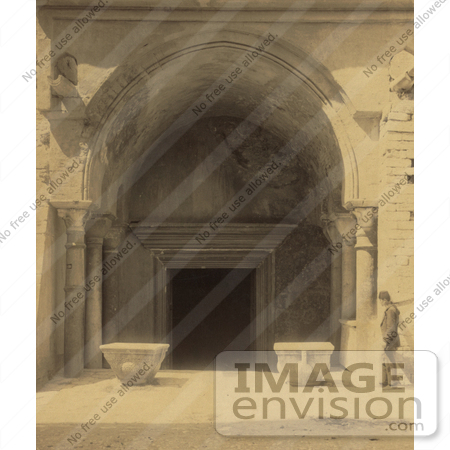 #20500 Historical Stock Photography of the Entrance Door to the Ayasofya Mosque, Church of Hagia Sophia by JVPD