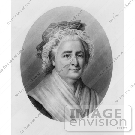 #20855 Stock Photography of First Lady Martha Washington, Wife of American President George Washington by JVPD