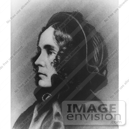 #20857 Stock Photography of First Lady Jane Pierce, Wife of American President Franklin Pierce by JVPD