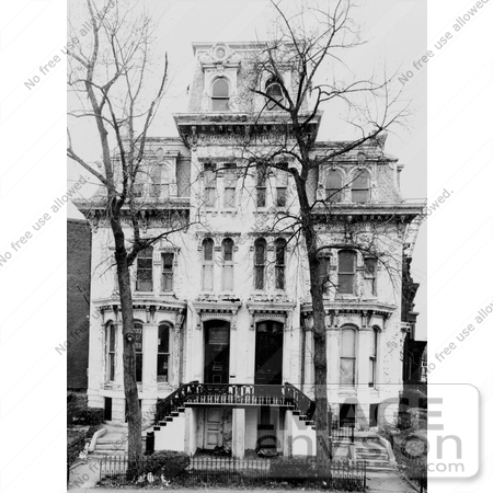 #20897 Stock Photograph of the 1 & 2 Logan Circle House, Washington DC by JVPD