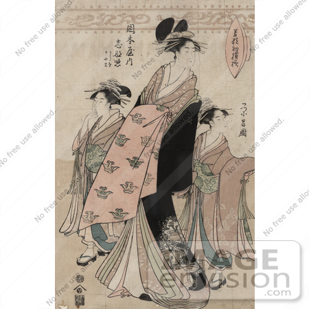 #21025 Stock Photography of the Courtesan Shinateru of the Okamoto-ya by JVPD