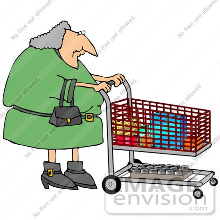 gray haired woman pushing a shopping cart in a grocery store people rh imageenvision com grocery store clipart grocery store shelves clipart