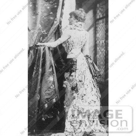 #21423 Stock Photography of the Actress Sarah Bernhardt in a Beautiful Long Gown by JVPD