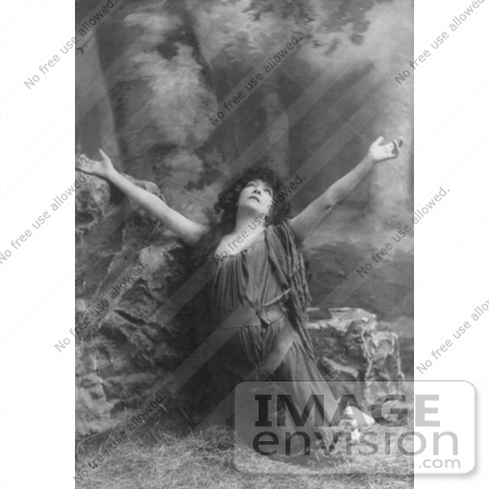 #21424 Stock Photography of the Actress Sarah Bernhardt Kneeling While Praising During a Role by JVPD