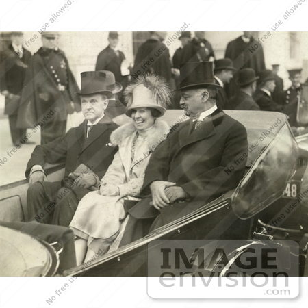 #2151  President Calvin Coolidge, Mrs. Coolidge and Charles Curtis by JVPD