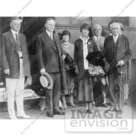 #2163 President and Mrs. Coolidge, Herbert Hoover, Frank B. Kellogg by JVPD