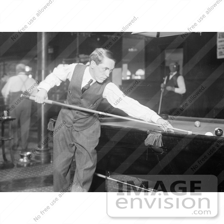 #21650 Stock Photography of Jerome Keogh Shooting Pool by JVPD