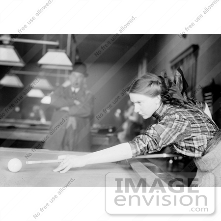 #21655 Stock Photography of Martha Clearwater Shooting Pool by JVPD