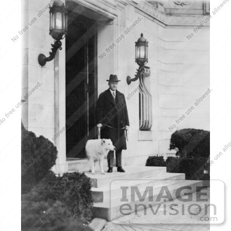 #2173 President Calvin Coolidge With Dog by JVPD