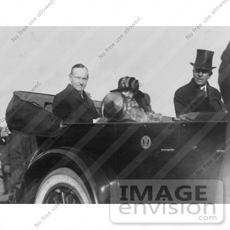#2192 President and Mrs. Coolidge in Convertible Automobile by JVPD