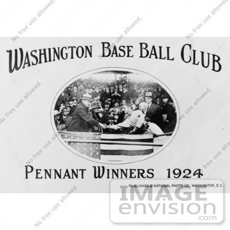 #2221 Washington Base Ball Club - Pennant Winners, 1924 by JVPD
