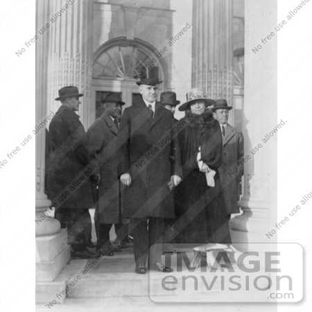 #2269 President and Mrs. Coolidge Leaving D.A.R. Hall by JVPD