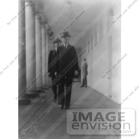 #2293 President Coolidge Returning to the Mansion From the Executive Office by JVPD