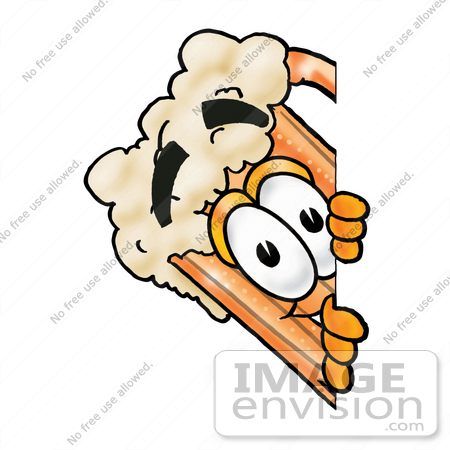 #23014 Clip art Graphic of a Frothy Mug of Beer or Soda Cartoon Character Peeking Around a Corner by toons4biz
