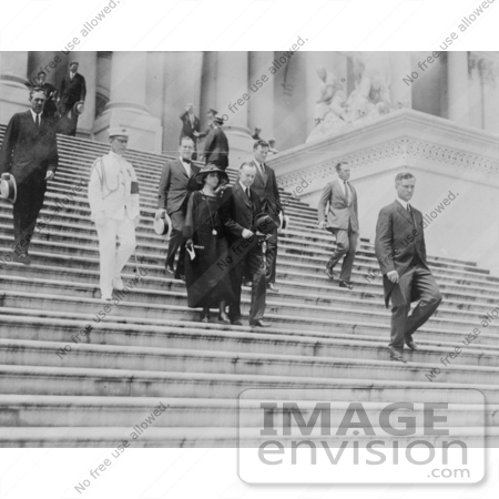 #2303 President and Mrs. Coolidge Leaving the Capitol by JVPD