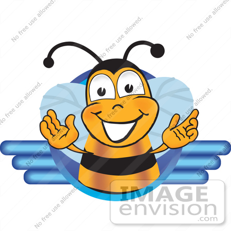 clipart cartoon characters. Bee Cartoon Character Logo