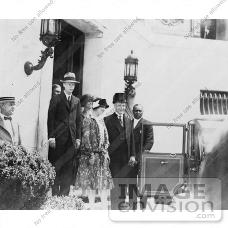 #2309 President and Mrs. Calvin Coolidge With Charles Lindbergh and His Mother by JVPD