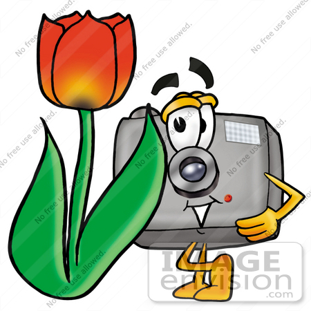 clip art graphic of a flash camera cartoon character with a red rh imageenvision com Movie Camera Clip Art Photography Camera Clip Art