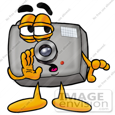 Clip Art Graphic of a Flash Camera Cartoon Character Whispering and ...
