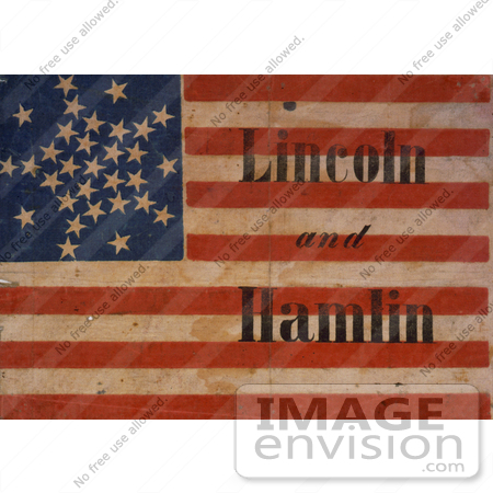 #2323 Lincoln and Hamlin Campaign Banner by JVPD