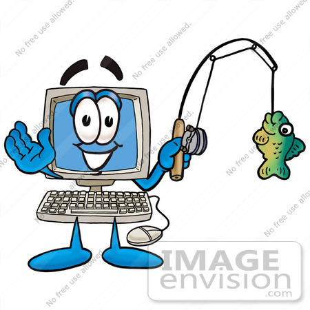 Computer cartoon character