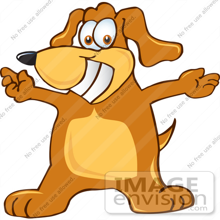 clipart dog. #23614 Clip Art Graphic of a