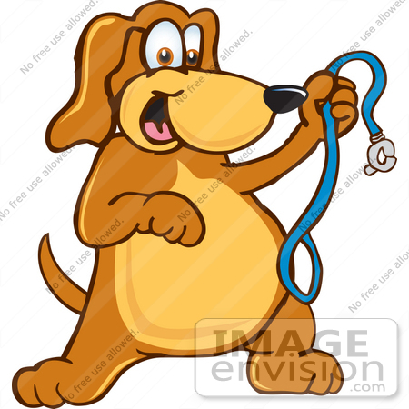 Clip Art Graphic of a Cute Brown Hound Dog Cartoon Character ...