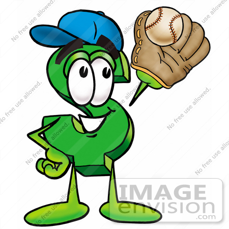 Clip Art Graphic of a Green USD Dollar Sign Cartoon Character ...