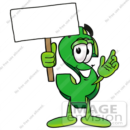 clip art graphic of a green usd dollar sign cartoon character rh imageenvision com Coupon Outline Clip Art Coupon Outline Clip Art