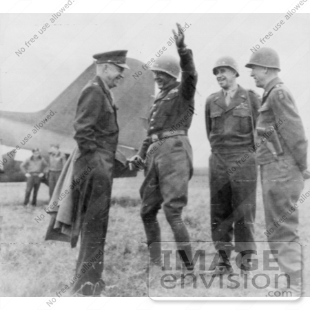 #2396 General Eisenhower With Generals Patton, Bradley, and Hodges by JVPD